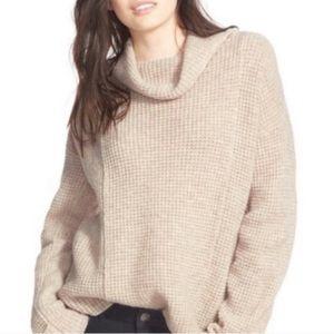 Free People waffle knit oatmeal sweater - Small